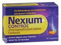 Nexium Control 20 mg magensaftresistente Filmtabletten