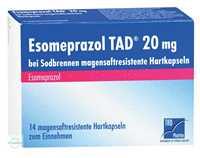 Esomeprazol TAD 20 mg bei Sodbrennen magensaftresistente Hartkapseln