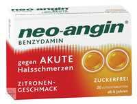 Neo Angin Benzydamin gegen akute Halsschmerzen Zitronengeschmack zuckerfrei