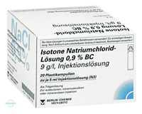 Isotone NaCl Lösung 0.9% BC Plastikampullen Injektionslösung