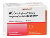 ASS-ratiopharm 100 mg magensaftresistente Tabletten