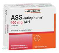 ASS Ratiopharm 100 TAH Tabletten