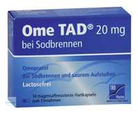 Ome TAD 20 mg bei Sodbrennen Kapseln