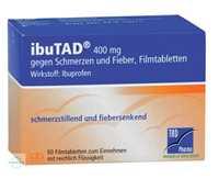 Ibutad 400 mg gegen Schmerzen und Fieber Filmtabletten
