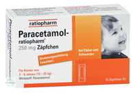 Paracetamol Ratiopharm 250 Kleinkinder-Suppositorien