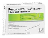 Pantoprazol 1A Pharma 20 mg bei Sodbrennen magensaftresistente Tabletten