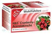 H&S Wohlfühltee Cranberry Acerolakirsche Filterbeutel