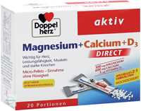 Doppelherz aktiv Magnesium + Calcium + D3 Direct Pellets