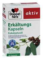Doppelherz aktiv Erkältungskapseln Eukalyptusöl