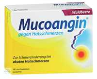 Mucoangin gegen Halsschmerzen Waldbeere Lutschtabletten