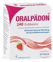 Oralpaedon 240 Erdbeer Pulver Beutel