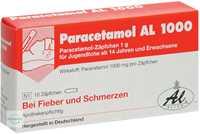Paracetamol AL 1000 Suppositorien