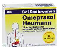 Omeprazol Heumann 20 mg bei Sodbrennen magensaftresistente Hartkapseln