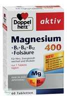 Doppelherz aktiv Magnesium 400 + B1 + B6 + B12 + Folsäure Tabletten