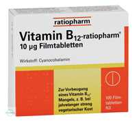 Vitamin B12 Ratiopharm 10 µg Tabletten
