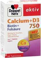 Doppelherz aktiv Calcium 750 + D3 + Biotin + Folsäure Tabletten