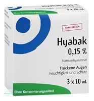 Hyabak Augentropfen (3x10 ml)