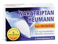 Naratriptan Heumann bei Migräne 2,5 mg Filmtabletten