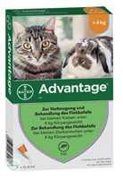 Advantage 40 mg für kl.Katzen u.kl.Zierkaninchen (4 x 0,4 ml)